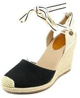 Roxy Bolsa Open Toe Canvas Wedge Sandal.