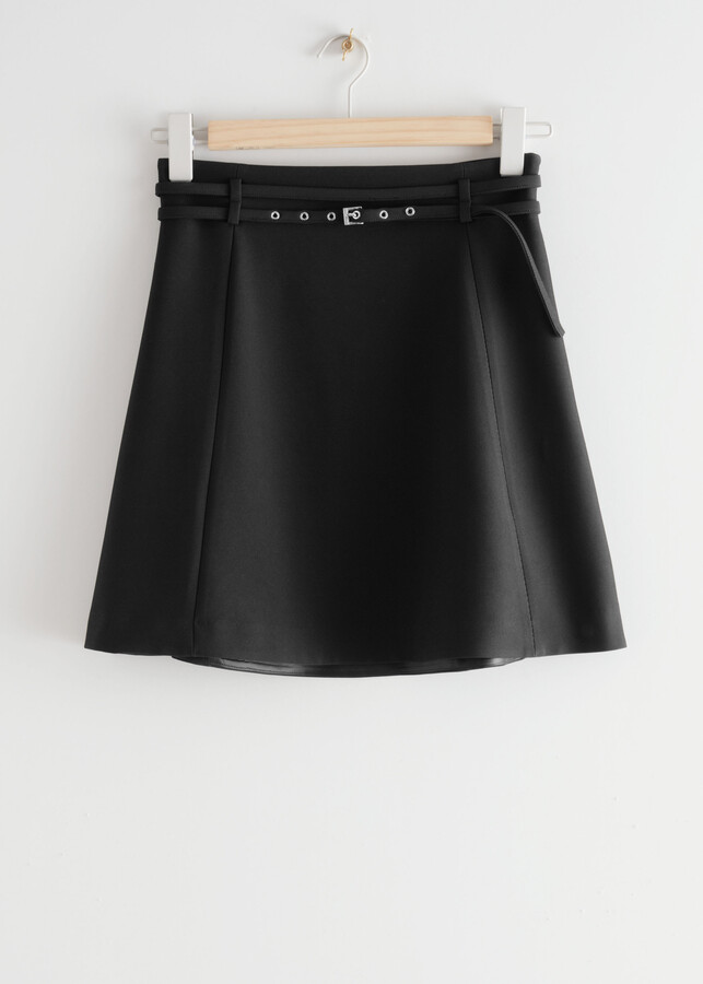 Thumbnail for your product : And other stories Belted Floaty Mini Skirt