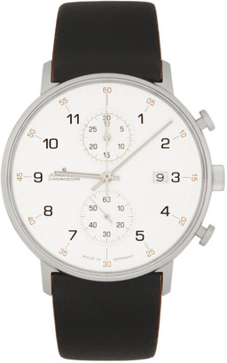 Junghans White and Black Form C Quartz Watch