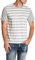 Public Opinion Short Sleeve Striped Crew Neck Tee