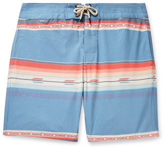 Faherty Mid-Length Striped Swim Shorts