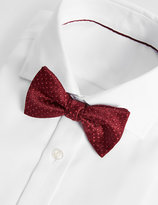 Marks And Spencer Spotted Textured Bow Tie