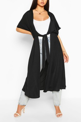 boohoo Tie Front Kimono