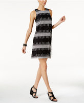 Alfani Petite Embroidered Shift Dress, Only at Macy's