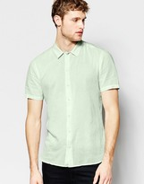 Asos Shirt In Mint With Short Sleeves