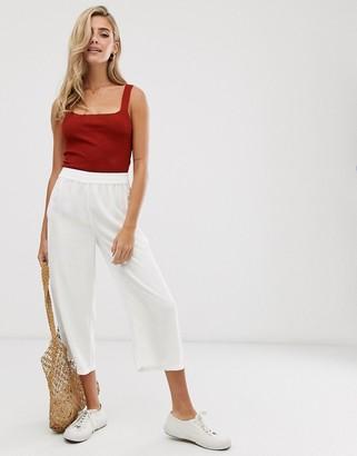 Pimkie wide leg pants in white
