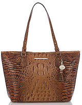 Brahmin Toasted Almond Collection Medium Asher Crocodile-Embossed Tote
