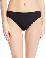 Kenneth Cole Reaction Women's Suns Out Crochet Buns Out Hipster Solid Bikini Bottom