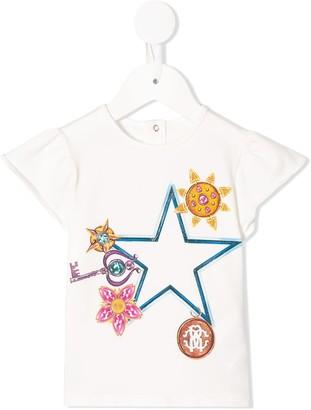 Roberto Cavalli Junior Charm print T-shirt