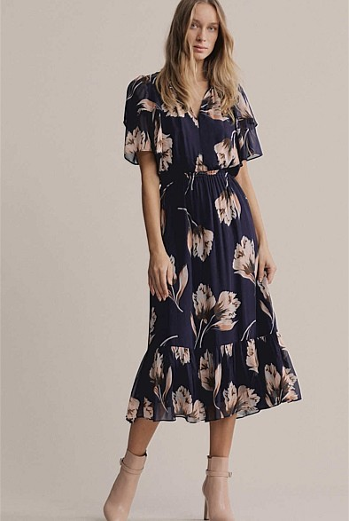 Witchery High Neck Frill Dress