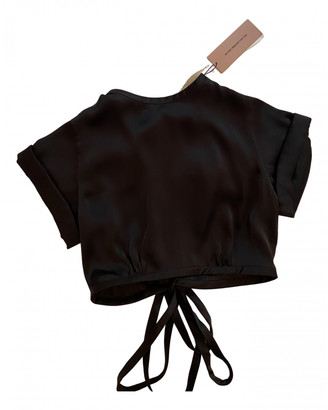 Orseund Iris Black Silk Tops