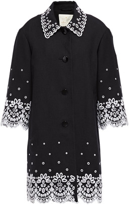 Kate Spade Broderie Anglaise Cotton-canvas Coat