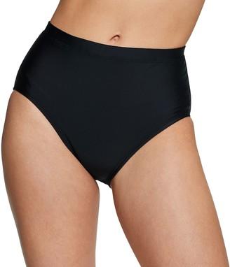 Speedo Women's Solid High-Waist Bikini Bottoms