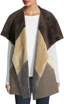 Lafayette 148 New York Clemence Colorblock Fur Vest