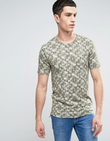 ONLY & SONS Fitted T-Shirt With All Over Print