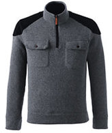 Lands' End Men's Sweater Fleece Field Shirt-Cherry Jam Dots