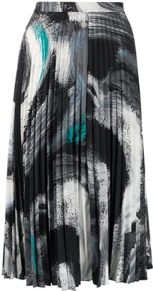 Dvf Diane Von Furstenberg Graphic Pleated Skirt