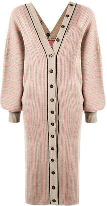 Y/Project Button-Up Cardigan Dress