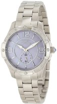 Invicta Women's 10220 Angel Diamond Accented Light Purple Mother-Of-Pearl Dial Stainless Steel Watch