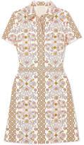 Tory Burch Port Printed Cotton-poplin Dress - Ivory