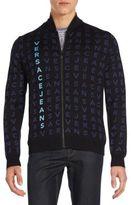 Versace Letter Imprinted Zipper Jacket