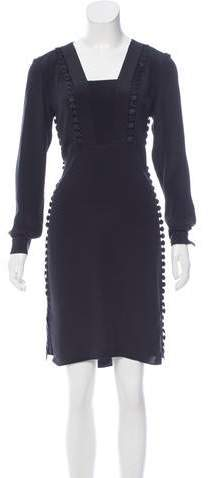 Derek Lam Embroidered Trim Silk Dress w/ Tags