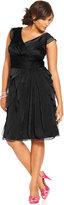 Adrianna Papell Plus Size Pleated Empire-Waist Dress