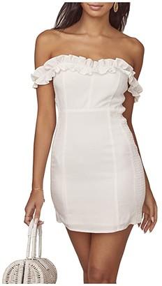 ASTR the Label Renata Dress (White) Women's Clothing