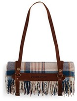 Pendleton Hampshire Plaid Lambswool Throw with Leather Carrier
