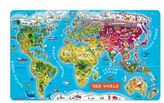 Janod World Wooden Magnetic Puzzle