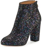 Charlotte Olympia Alba Glitter Fabric Block-Heel Bootie, Night Sky Blue