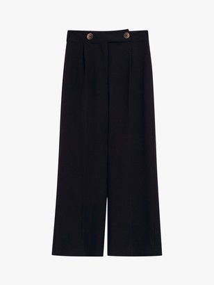 Warehouse Button Trousers, Black