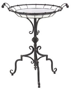 Gracie Oaks Geib Traditional Round Tray End Table