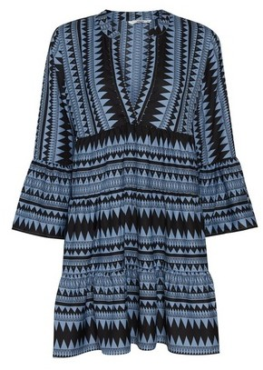 Dorothy Perkins Womens Only Blue Geometric Print Smock Dress, Blue