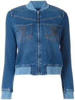 Love Moschino denim bomber jacket - women - Cotton/Spandex/Elastane/Polyester - 42