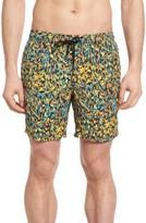 Mr.Swim Men's Splatter Print Swim Trunks