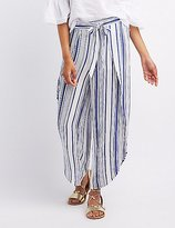 Charlotte Russe Striped Tied Wrap Palazzo Pants