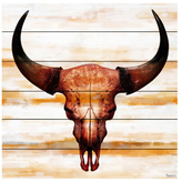 Parvez Taj Burnt Orange Skull by Wood)