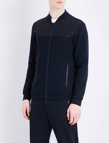 Armani Collezioni Stand collar tracksuit bomber jacket