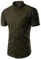 BSNQA Men's Short Sleeve Button Down Shirts (L, )