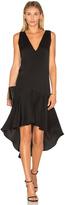 Milly Deep V Flounce Dress