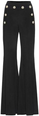 Balmain High-rise flared knit pants