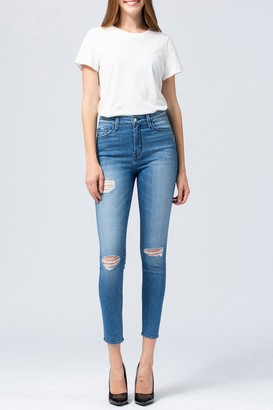 Vervet By Flying Monkey Faria Distressed Crop Skinny Jeans