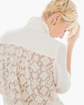 Chico's Lace-Back Tie-Front Top