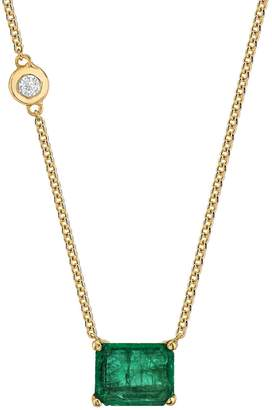 Shay 2.57 Carat Emerald Necklace - Yellow Gold