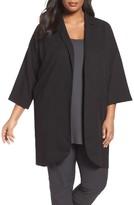 Eileen Fisher Plus Size Women's Long Tencel Jacket