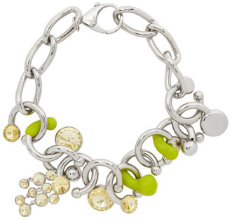 Sunnei Silver and Green Statement Necklace