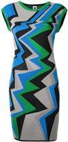 M Missoni geometric pattern knitted dress - women - Cotton/Polyamide/Polyester/Metallic Fibre - 38