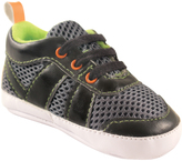 Luvable Friends Black & Lime Athletic Sneaker