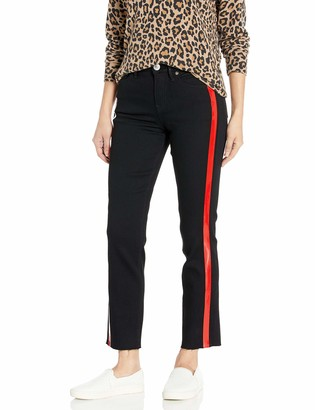 True Religion Women's HW Star RED HIGH Shine Stripe